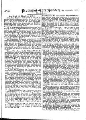 Provinzial-Correspondenz vom 24.09.1873