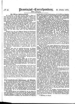 Provinzial-Correspondenz vom 22.10.1873