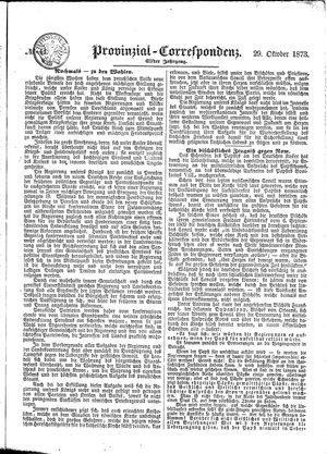 Provinzial-Correspondenz vom 29.10.1873
