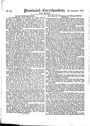 Provinzial-Correspondenz vom 23.12.1873