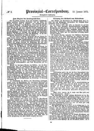 Provinzial-Correspondenz vom 13.01.1875