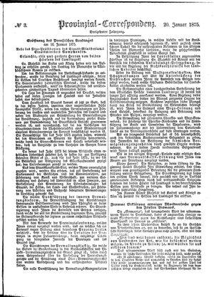 Provinzial-Correspondenz vom 20.01.1875