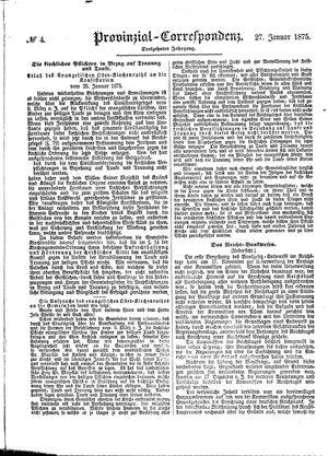 Provinzial-Correspondenz vom 27.01.1875