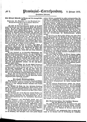 Provinzial-Correspondenz vom 03.02.1875