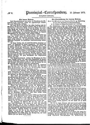 Provinzial-Correspondenz vom 10.02.1875