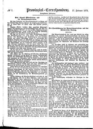 Provinzial-Correspondenz vom 17.02.1875