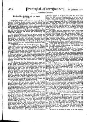 Provinzial-Correspondenz vom 24.02.1875