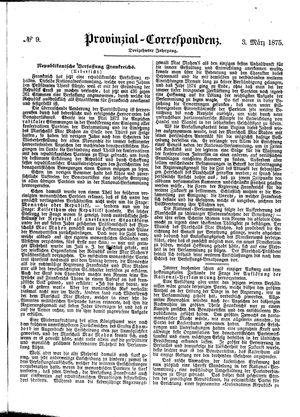 Provinzial-Correspondenz vom 03.03.1875