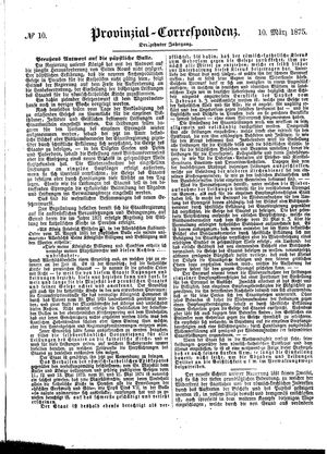 Provinzial-Correspondenz vom 10.03.1875
