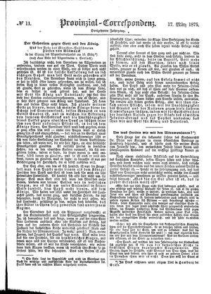 Provinzial-Correspondenz vom 17.03.1875