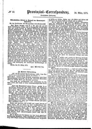 Provinzial-Correspondenz vom 24.03.1875