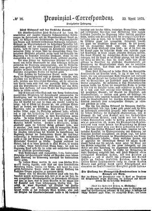 Provinzial-Correspondenz vom 22.04.1875