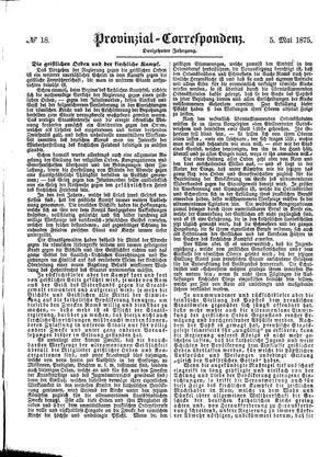 Provinzial-Correspondenz vom 05.05.1875