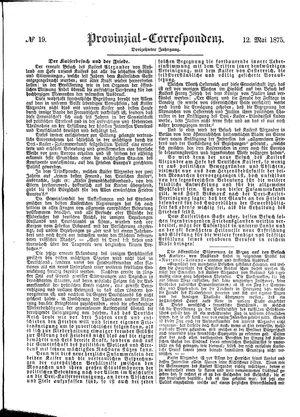 Provinzial-Correspondenz vom 12.05.1875