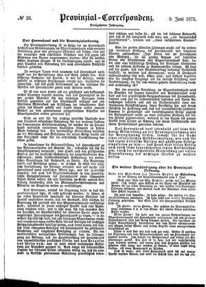 Provinzial-Correspondenz vom 09.06.1875