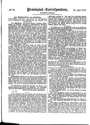 Provinzial-Correspondenz vom 23.06.1875