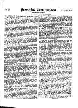 Provinzial-Correspondenz vom 30.06.1875