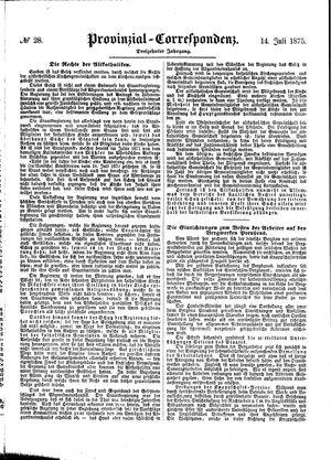 Provinzial-Correspondenz vom 14.07.1875