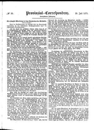 Provinzial-Correspondenz vom 28.07.1875