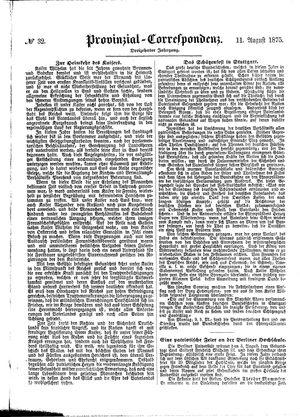 Provinzial-Correspondenz vom 11.08.1875