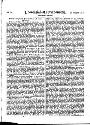 Provinzial-Correspondenz vom 25.08.1875