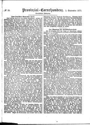Provinzial-Correspondenz vom 01.09.1875