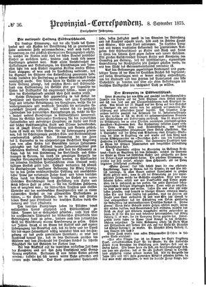Provinzial-Correspondenz vom 08.09.1875