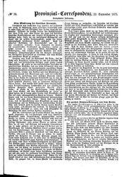 Provinzial-Correspondenz (22.09.1875)