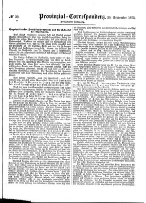 Provinzial-Correspondenz vom 29.09.1875