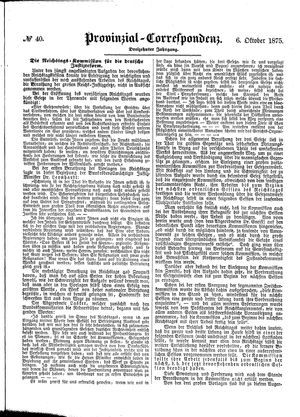 Provinzial-Correspondenz vom 06.10.1875