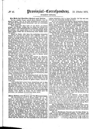 Provinzial-Correspondenz vom 13.10.1875