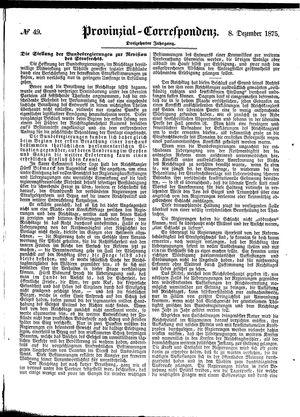 Provinzial-Correspondenz vom 08.12.1875