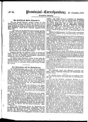 Provinzial-Correspondenz vom 15.12.1875