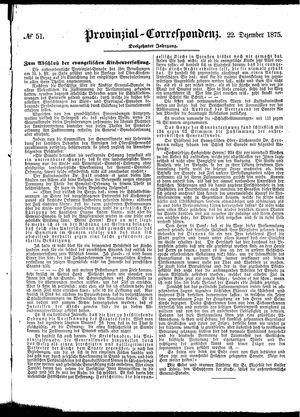 Provinzial-Correspondenz vom 22.12.1875
