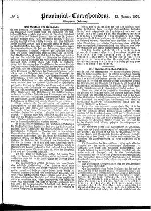 Provinzial-Correspondenz vom 12.01.1876