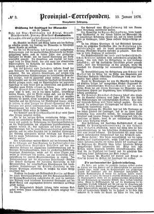 Provinzial-Correspondenz vom 19.01.1876