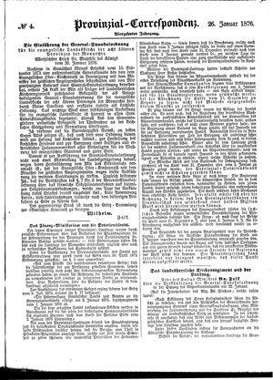 Provinzial-Correspondenz vom 26.01.1876