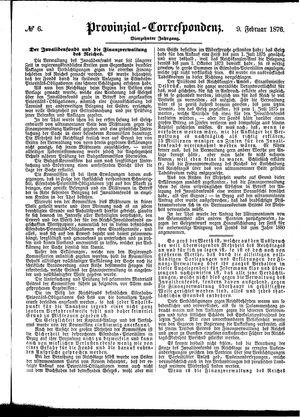 Provinzial-Correspondenz vom 09.02.1876