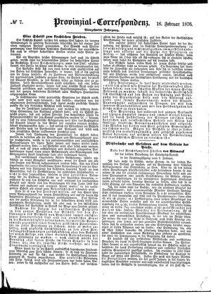 Provinzial-Correspondenz vom 16.02.1876