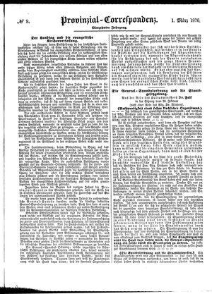 Provinzial-Correspondenz vom 01.03.1876