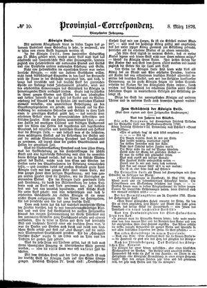 Provinzial-Correspondenz vom 08.03.1876