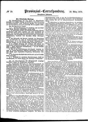 Provinzial-Correspondenz vom 29.03.1876