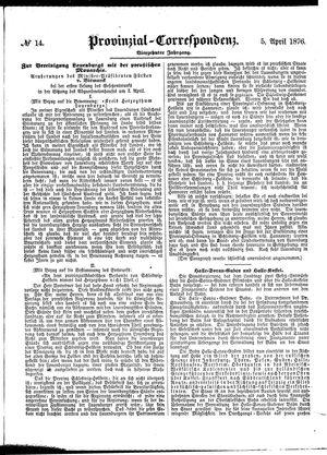 Provinzial-Correspondenz vom 05.04.1876