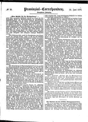 Provinzial-Correspondenz vom 21.06.1876