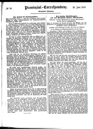 Provinzial-Correspondenz on Jun 28, 1876