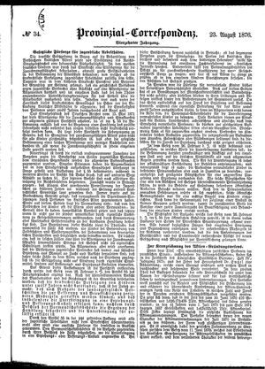 Provinzial-Correspondenz vom 23.08.1876