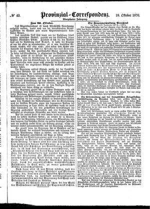 Provinzial-Correspondenz vom 18.10.1876