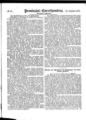 Provinzial-Correspondenz vom 20.12.1876