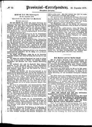 Provinzial-Correspondenz vom 28.12.1876