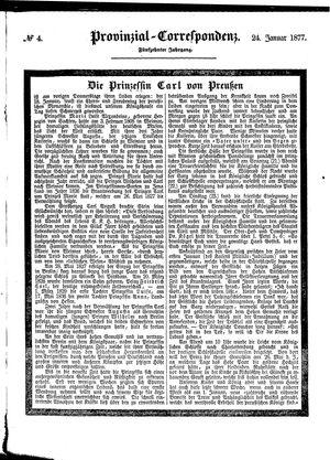 Provinzial-Correspondenz vom 24.01.1877